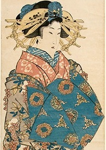 Kunisada, Woman with Nanten Berries