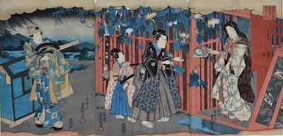 Kunisada, Genji Triptych