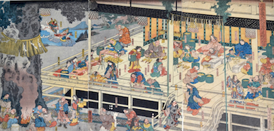 Kunisada, The Great Shrine at Izumo