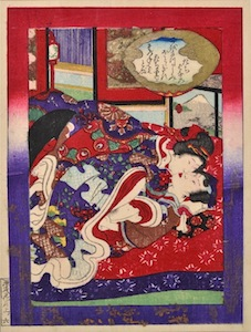 Kunisada III, Shunga Illustrations from Tales of the Genji 3