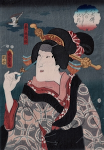 Kunisada II, Eight Dog Heroes (Satomi Hakkenden) - Hikiroku's Daughter Hamaji