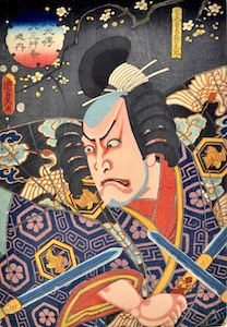 Kunisada II, Nakamura Utaemon III as Moriguchi Kuro From the Hakkenden