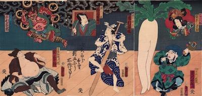 Kunisada II, A Scene from Yanagi ni Kaze Fuki ya no Itosuji