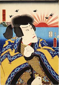 Kunisada, Ichikawa Danjuro as Jiraiya