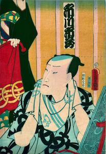 Kunisada, Actor Ichikawa Ichizo III in the Dressing Room