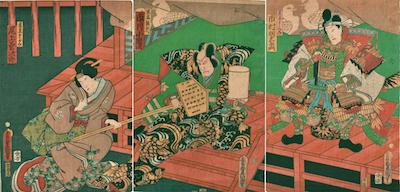 Kunisada, A Scene from Ichinotani Futaba Gunki