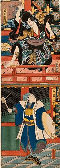 Kunisada, Ishikawa Goemon in Sanmon Gosan no Kiri - Kakemono
