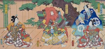 Kunisada, Kabuki Stage Scene