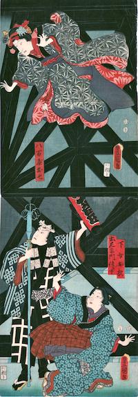 Kunisada, Ichikawa Kodanji IV as Yaoya Oshichi