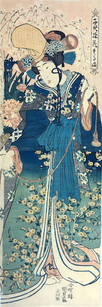Kunisada, Woman Dressed as a Shirabyoshi Dancer