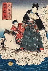 Kunisada, Jiraiya and Toad