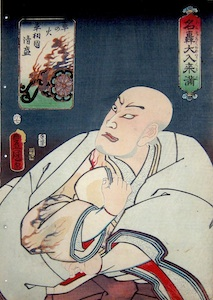 Kunisada, Nakamura Utaemon IV as Taira no Kiyomori