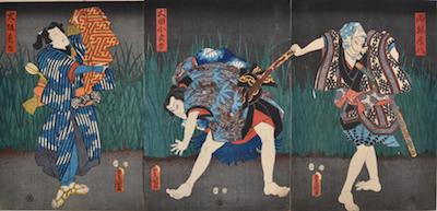 Kunisada, Scene from Nanso Satomi Hakkenden