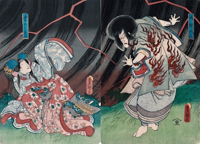 Kunisada, Narukami the Thunder God