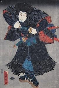 Kunisada, Portrait of Nakamura Shikan IV