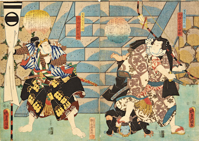 Kunisada, Scenes from Eight Dog Heroes of Satomi