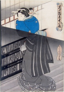Kunisada, Secret Meetings by Moonlight