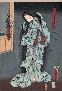 Kunisada, Nakamura Tomijuro II as the Spirit of a Willow Tree
