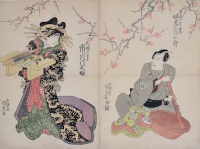Kunisada, Two Actors Preparing Food