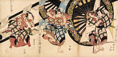 Kuniyasu, Ichikawa Danjuro VII as Matsuomaru in Sugawara Denju Tenarai Kagami