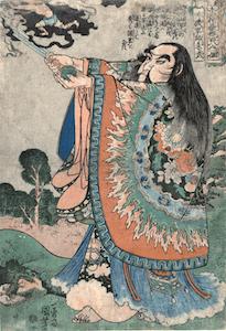 Kuniyoshi, 108 Heroes of the Popular Suikoden - Zhu Wu