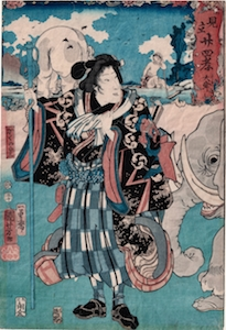 Kuniyoshi, 24 Selected Paragons of Filial Piety - Bando Shuka I in the Story of Taishun