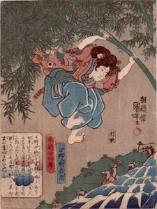 Kuniyoshi, 24 Paragons of Filial Piety of Our Country - Hino Kumawakamaru
