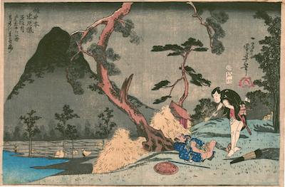 Kuniyoshi, Act V from the Kanadehon Chushingura