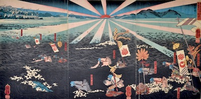 Kuniyoshi, The Battle of Kojima Jubei Castle