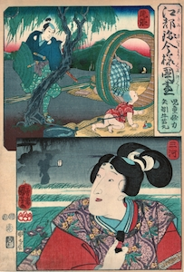 Kuniyoshi, A Modern Set of Edo Provinces in Brocade Style - Owari Province
