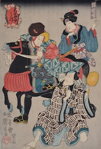 Kuniyoshi, The Five Festivals - The Chrysanthemum Festival