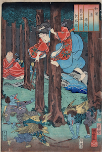Kuniyoshi, Comparisons for the Chapters of the Genji - Festival of Cherry Blossoms