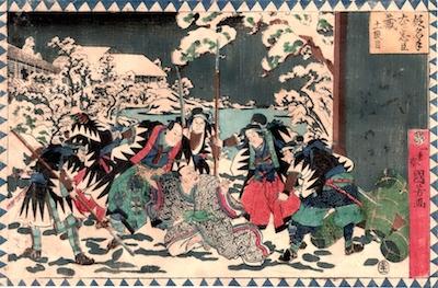 Kuniyoshi, Kanadehon Chushingura, act 11