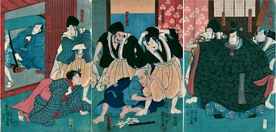 Kuniyoshi, Scene from Konoshita Soga Megumi no Masagoji