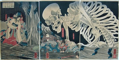 Kuniyoshi, Mitsukini Defies the Skeleton Spectre Conjured by Princess Takiyasha
