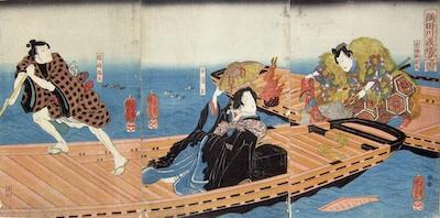 Kuniyoshi, Saving of the Kimono