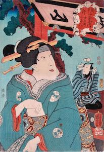 Kuniyoshi, Selection for the 12 Signs - Rabbit