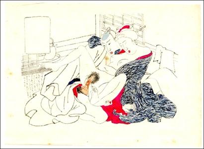 Utagawa School, Shunga Brush Drawing