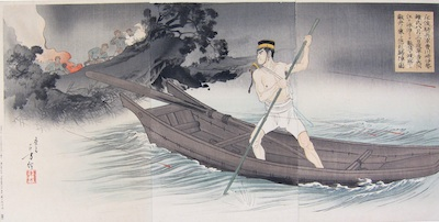 Toshikata, Escape on a Boat