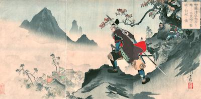 Toshikata, Kato Kiyomasa Preparing for the Battle of Ichi-no-tani