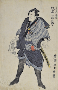 Toyokuni I, Portrait of Bando Mitsugoro III as Dozaemon Denkichi