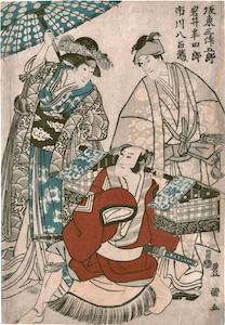 Toyokuni I, Bando Mitsugoro, Iwai Hanshiro and Ichikawa Yoazo