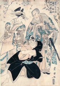 Toyokuni I, Ichikawa Omezo I in the play Sukeroku Yukari no Edo Zakura