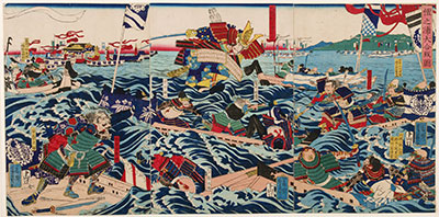 Yoshikazu, The Battle of Dan-no-Ura of 1185