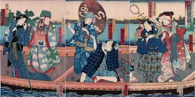 Yoshiiku, The Funanorikomi Boat Procession