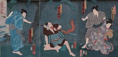 Yoshiiku, A Scene from Hatsumoro yui Soga no kyodai