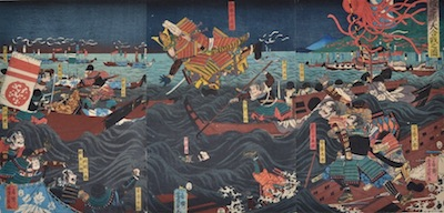 Yoshikazu, The Battle of Dan-no-Ura of 1185