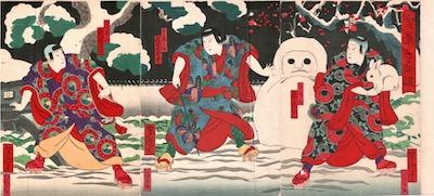 Yoshitaki, Snow Scene in Theatre