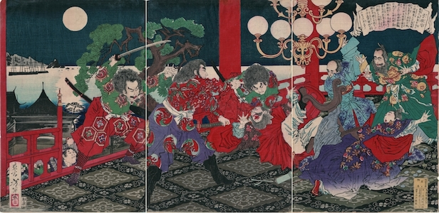 Yoshitoshi, The Assassination of Ii Naosuke (Probably)