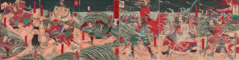 Yoshitoshi, The Battle of Dan-no-Ura Hexaptych